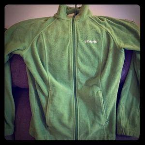 Green Columbia zip up